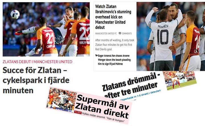 Det tog drygt tre minuter (inte fyra som Sydsvenskan skrev) för Zlatan  Ibrahimovic att göra mål för sin nya klubb. Med en konstspark signerad  Zlatan gjorde ... 3c451bb5c7761