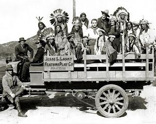 El rodaje de la película The Squaw Man - 1914
