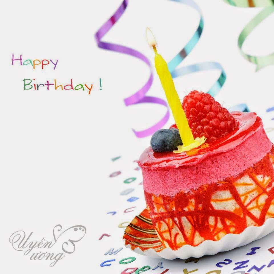 Thiệp chúc mừng sinh nhật hình bánh gato