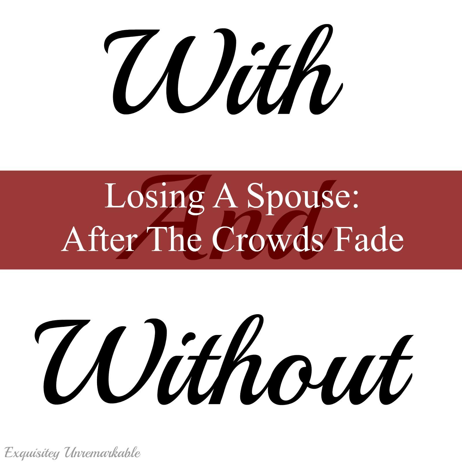 Losing A Spouse
