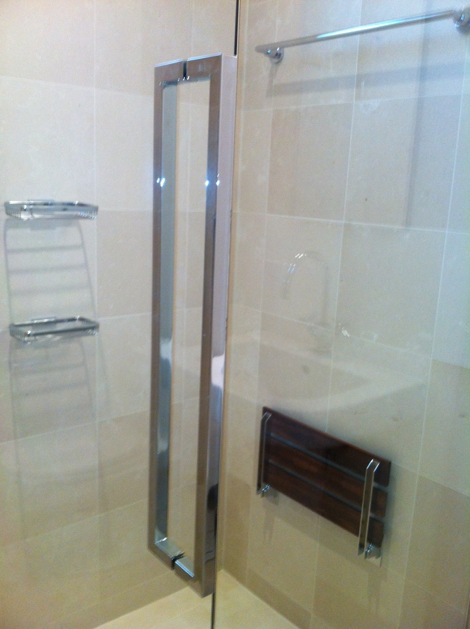 Frameless Shower Door With Cr Laurence Hardware Ot Glass