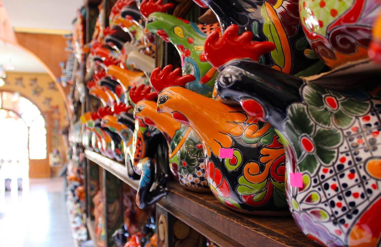 dolores hidalgo shop pottery talavera rooster
