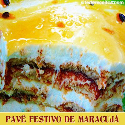 Pavê festivo de maracujá
