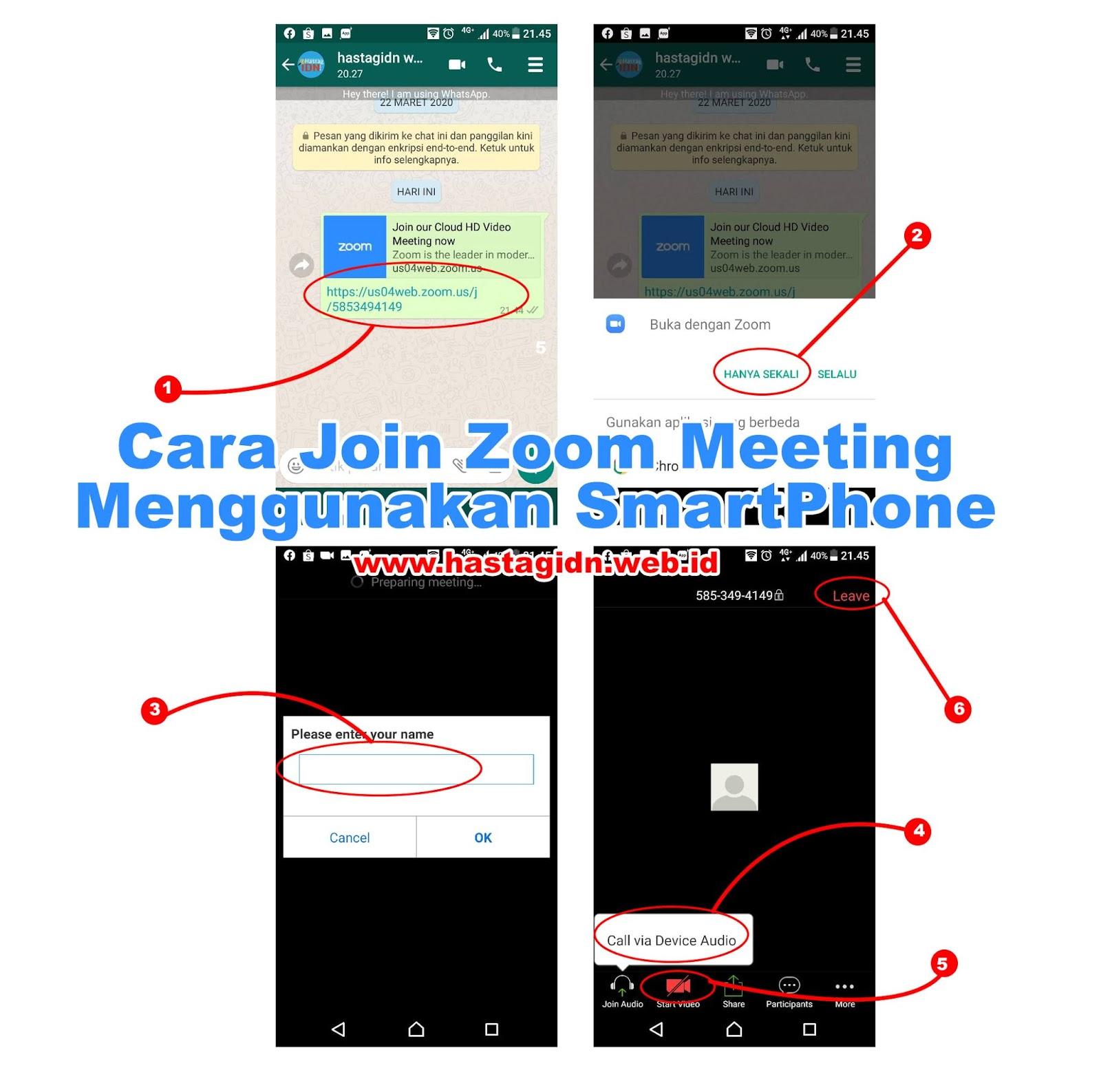 Cara Join Zoom Meeting Menggunkan Smarphone