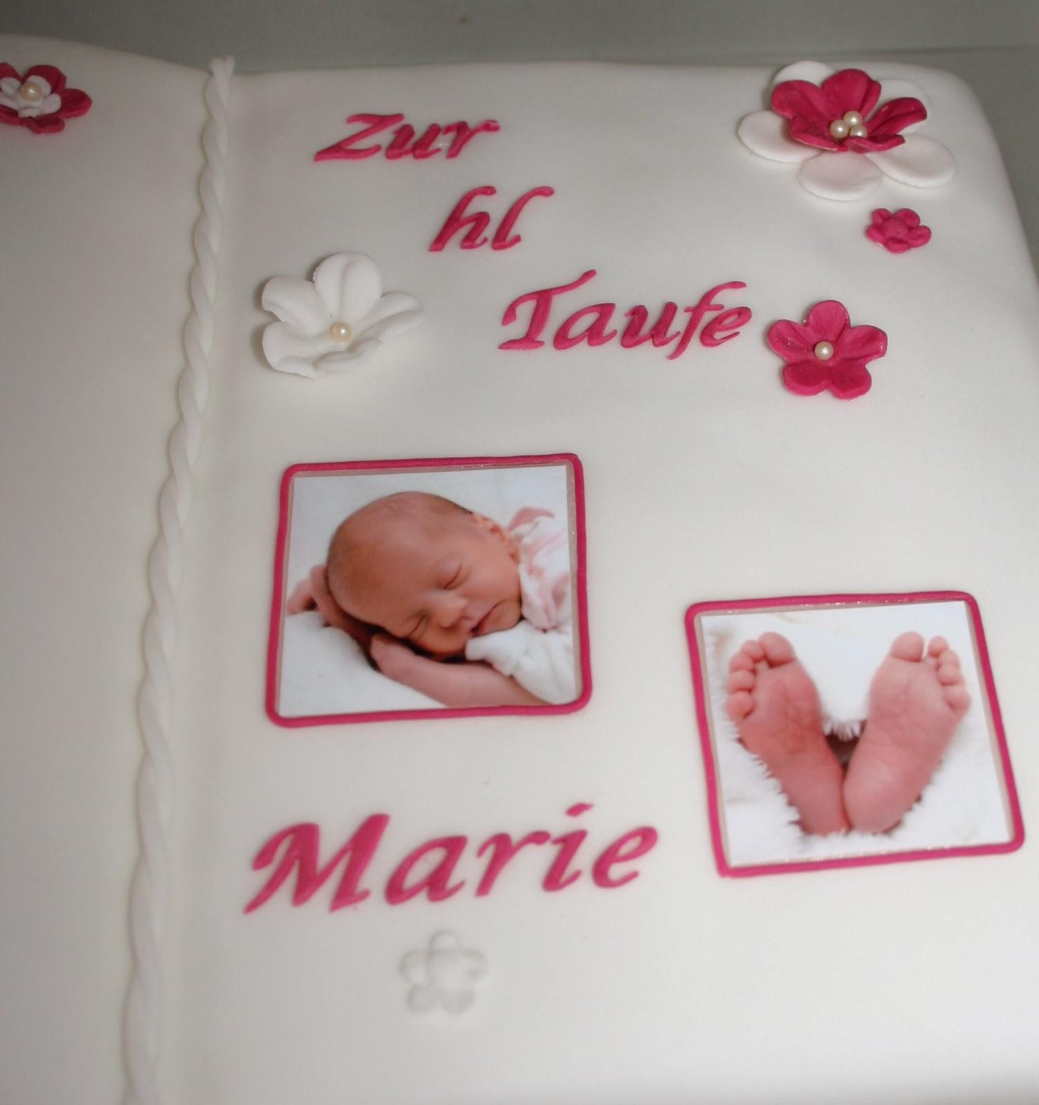 Melas kleine Backstube Tauftorte Buch in Pink und Fotos