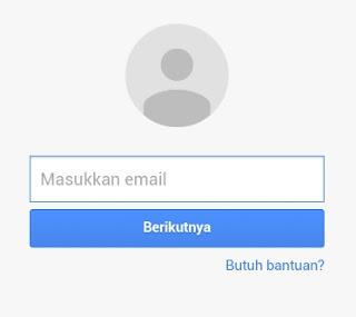 Login akun google untuk melacak android hilang