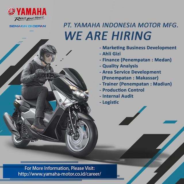 Lowongan Kerja S1 & D3 PT Yamaha Indonesia Motor MFG