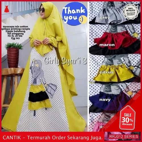 Jual RRJ012D269 Dress Muslim Girly Wanita Syari Sk Terbaru BMGShop