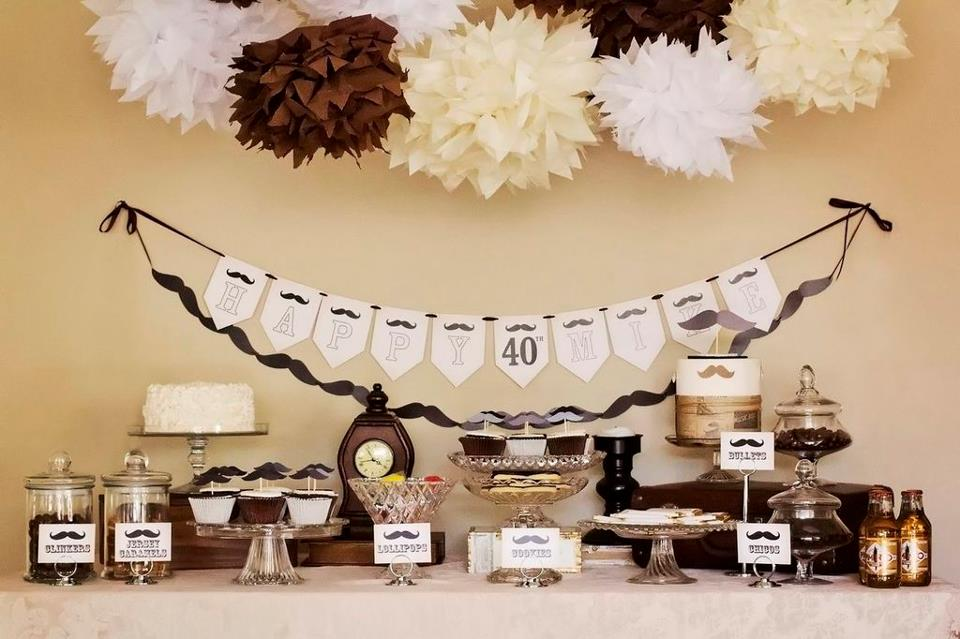 Little big company the blog moustache party dessert for 40 year old birthday decoration ideas