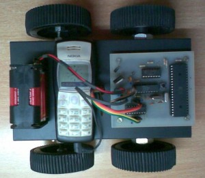 DTMF based Mobile Controlled Robot