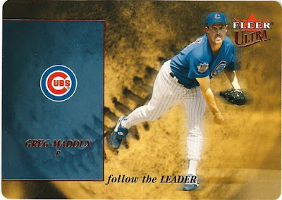 2005 Ultra Follow the Leader Die Cut #13 Greg Maddux
