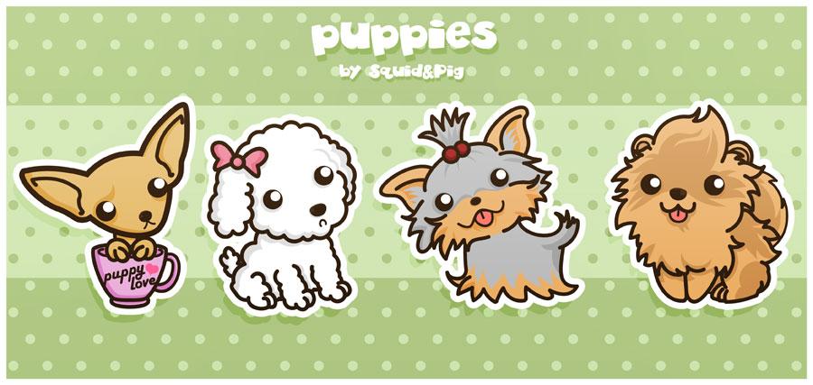Pomeranian De Dibujos Perritos