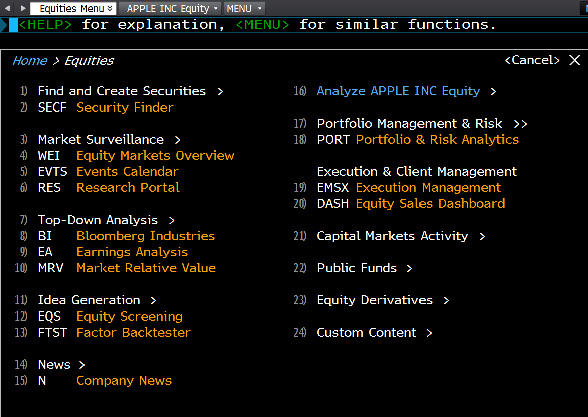 Singapore Quant: Bloomberg Guide - Equities Screen Introduction