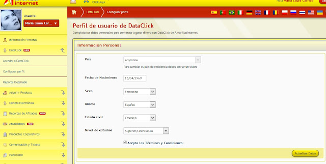 Dataclicks Amarillas Internet