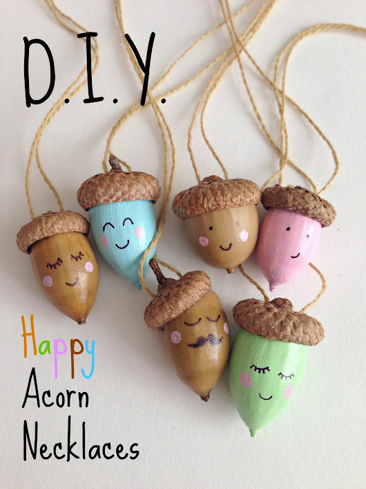 DIY: Happy Acorn Necklaces