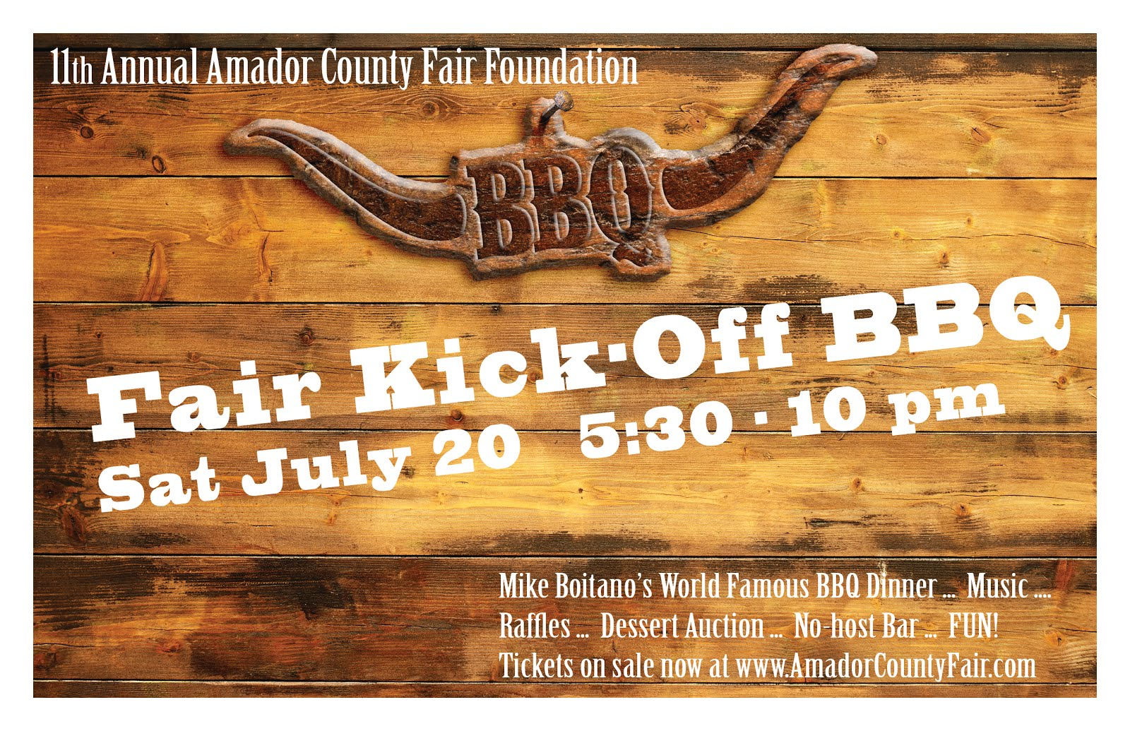 Amador County Fair Kick-Off BBQ - Sat July 20