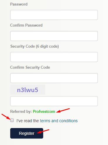 Регистрация в DreamWallet 2
