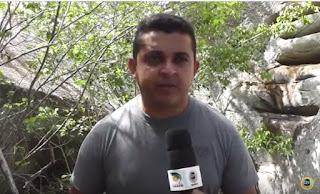 """Descubra a """"Pedra da Escada"""" no município de Baraúna; Veja vídeo"""