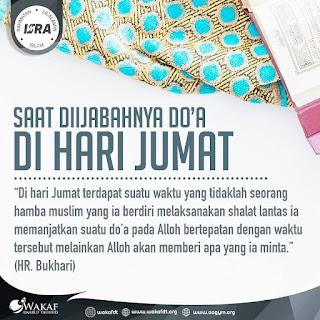 Saat Diijabahnya Do'a Di Hari Jumat - Qoutes - Kajian Islam Tarakan