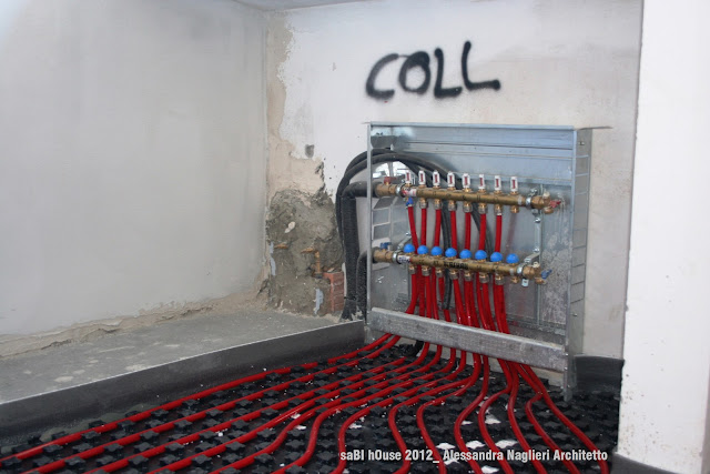 riscaldamento radiante a pavimento underfloor heating system
