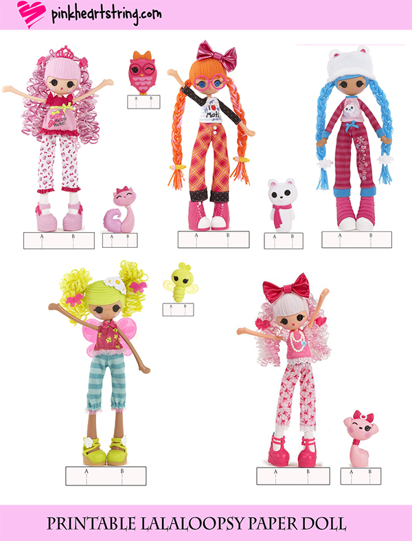 Lalaloopsy Girls Paperdolls