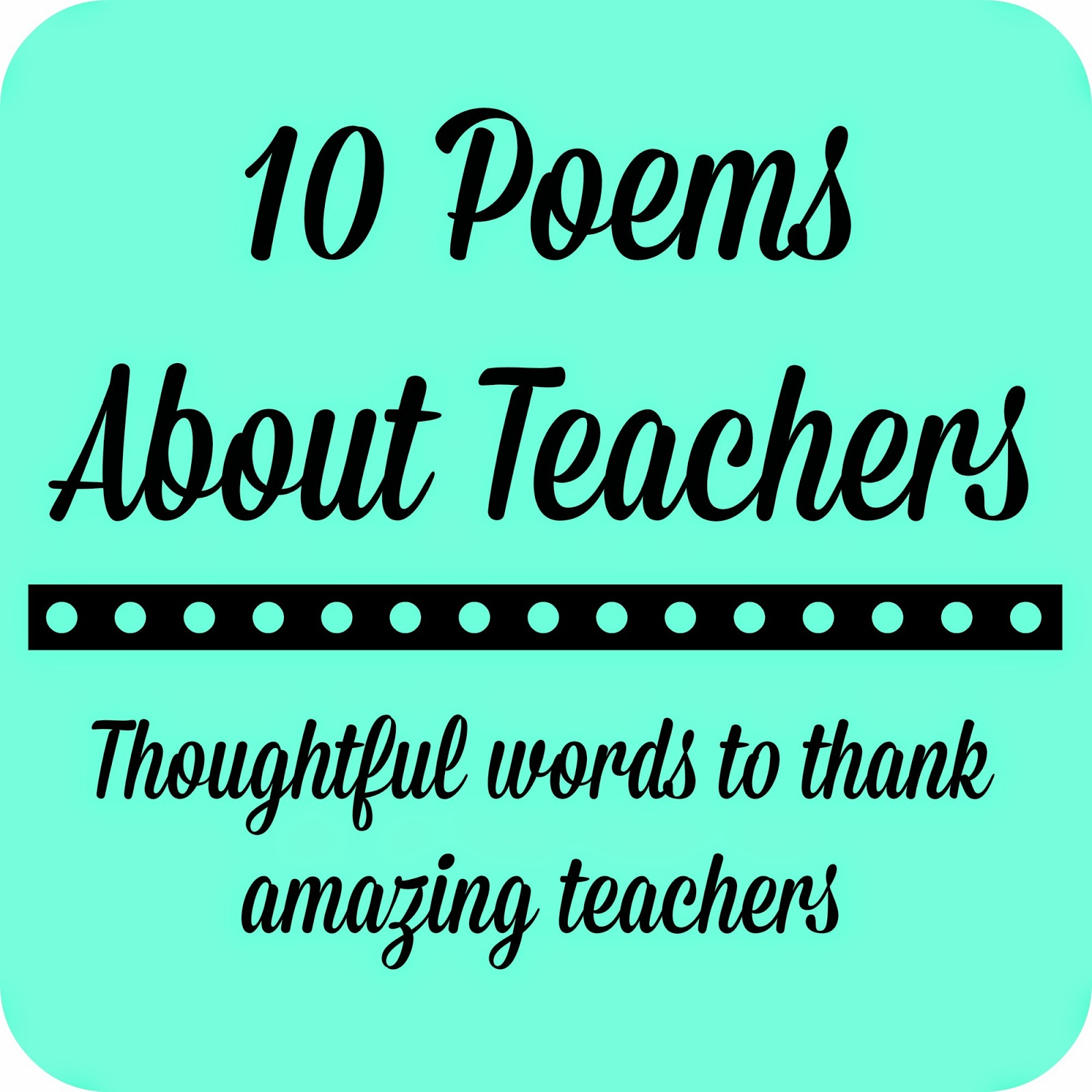 thank you poem for teacher - photo #15