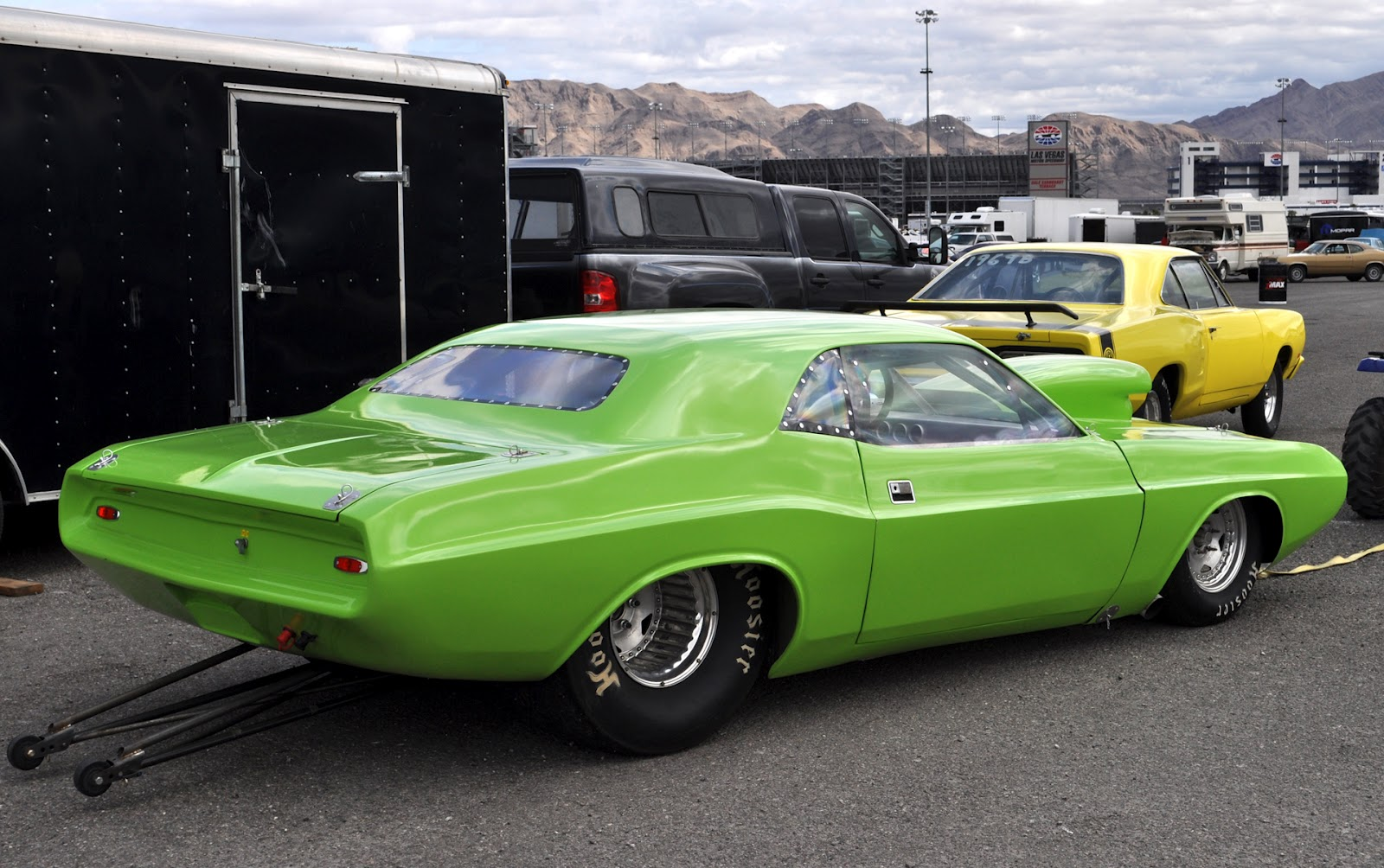 Just A Car Guy: Mopar Muscle cars from all over the pits at Mopars ...