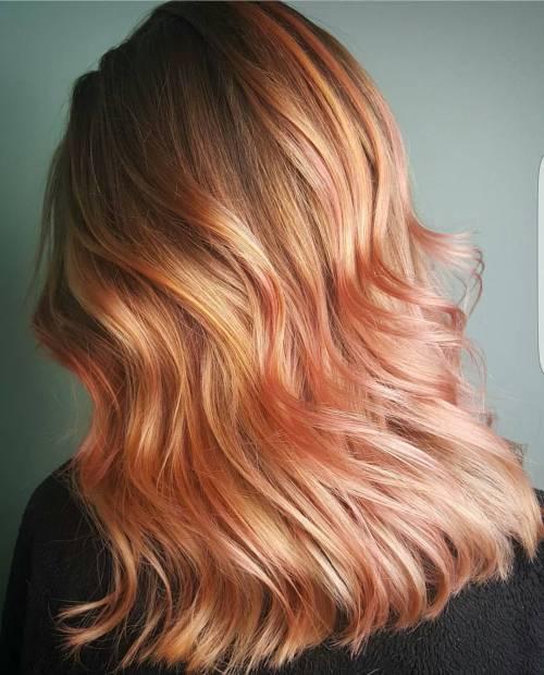 rose gold hues
