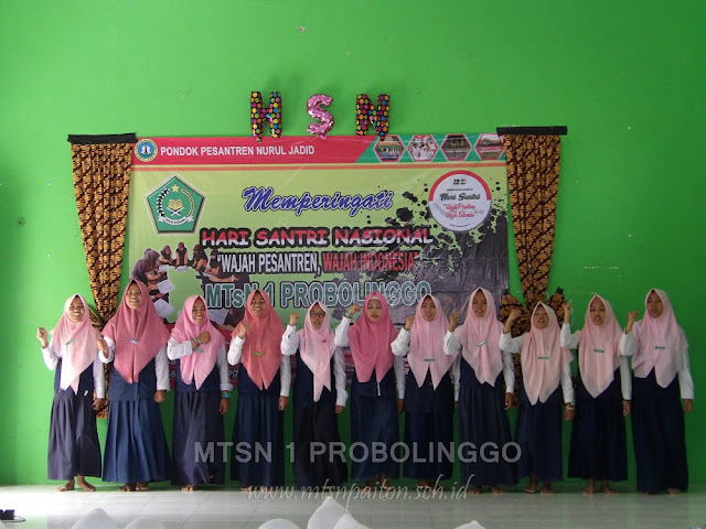 Kelas Utara Putri MTsN 1 Probolinggo Menggelar HSN Khusus