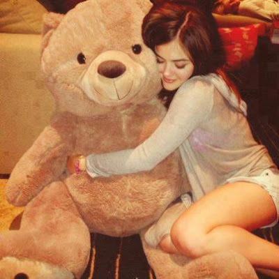 alone girl with teddy bear images