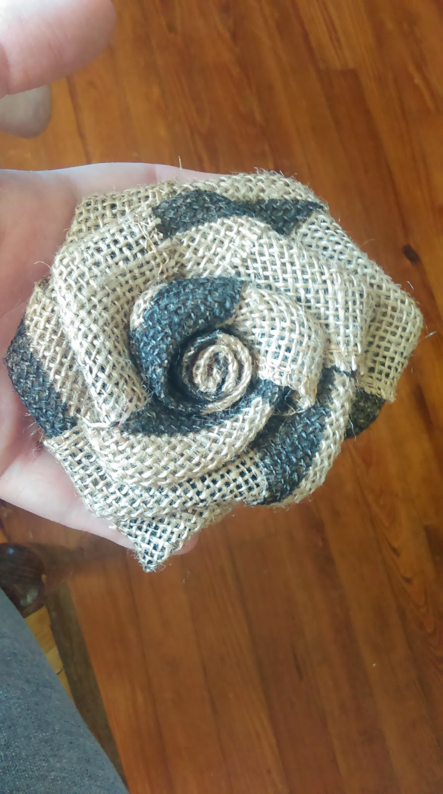 Dress up your home with these beautiful burlap roses! They are SUPER easy and inexpensive to make on your own!