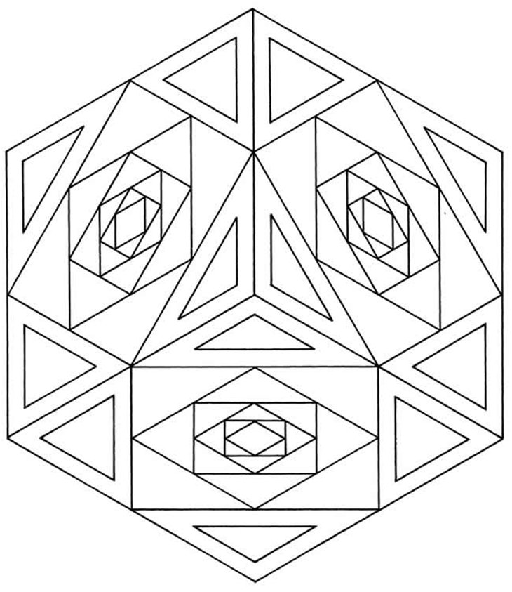 Geometrical Designs Coloring Pages