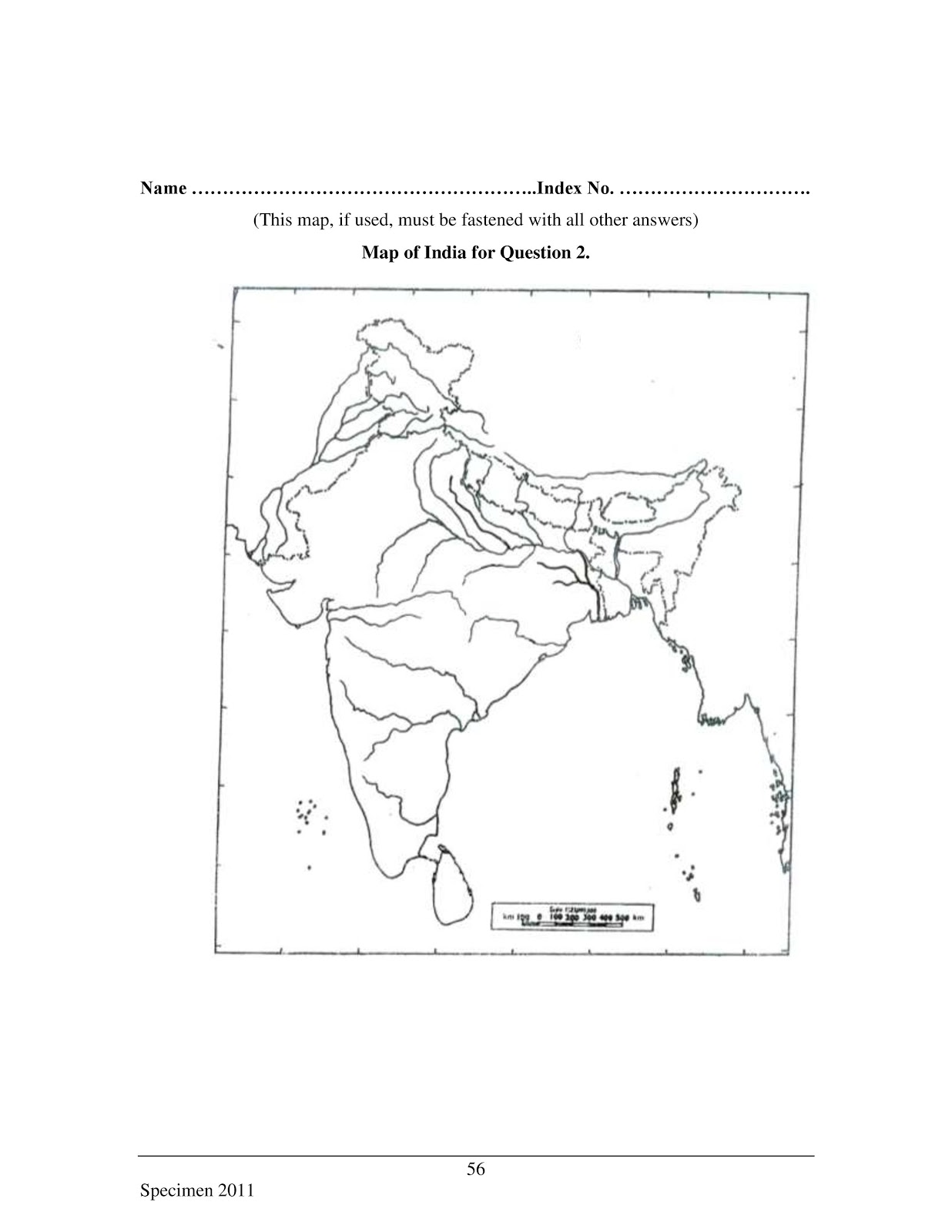 icse 2017 class 10th geography H.C.G Paper 2 specimen question paper