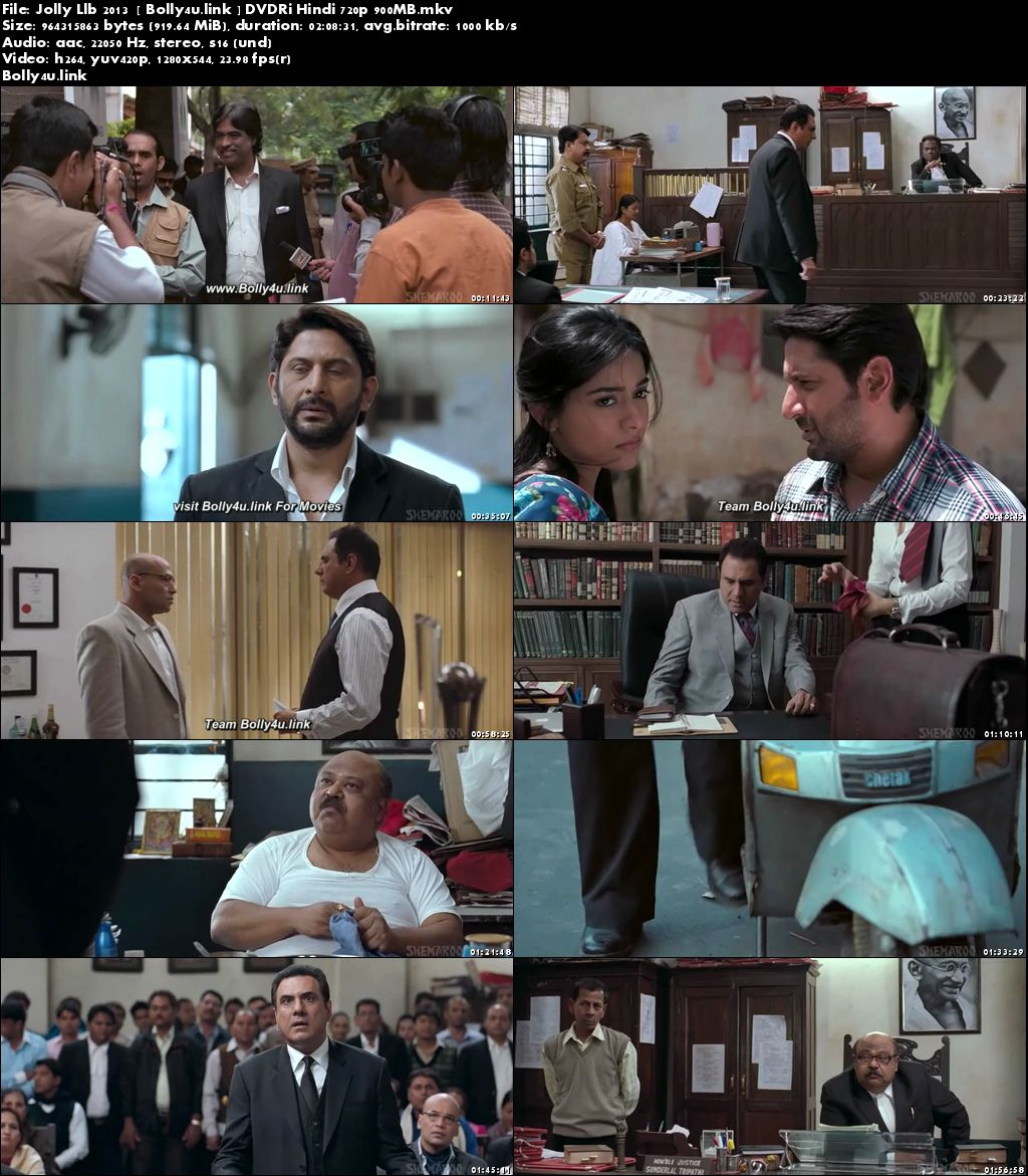 Jolly LLB 2013 DVDRip 350Mb Full Hindi Movie Download 480p