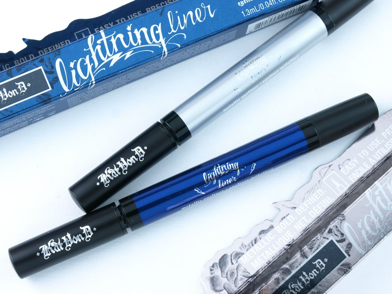 """Kat Von D Lightning Liner Metallic Eyeliner in """"Bach"""" & """"Amadeus"""": Review and Swatches"""