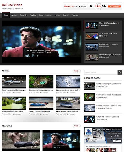 Download Detube Theme free