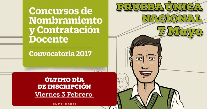 Minedu ltimo d a inscripci n concursos de nombramiento for Concurso docente 2017