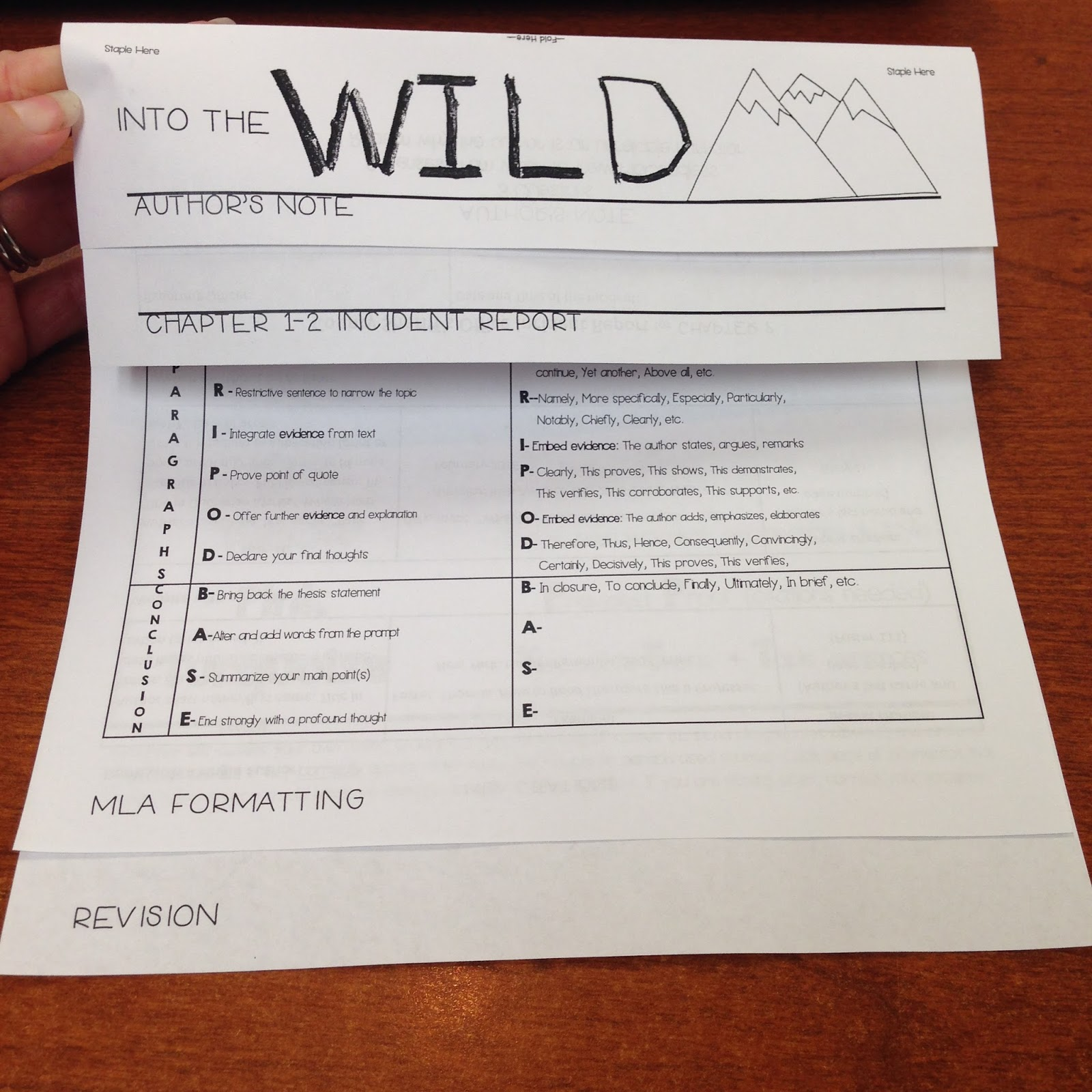 B S Book Love Into The Wild Unit Plan