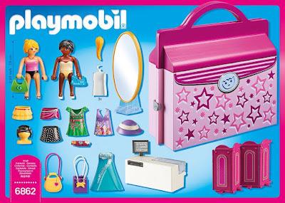 TOYS : JUGUETES - PLAYMOBIL  Fashion Girls - 6862 Boutique Maletín : Tienda de Moda  Producto Oficial 2016 | Edad: 5-12 años  Comprar en Amazon España