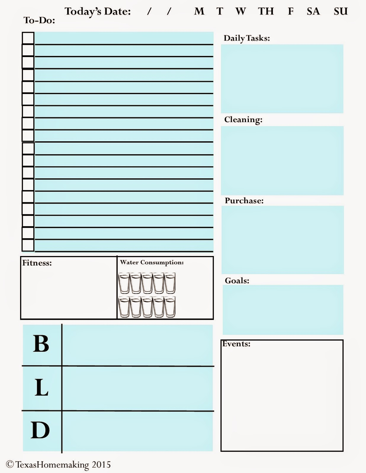 Get Organized :: A Daily Planner Sheet For All Your Organizing Needs  Day Planner Sheet