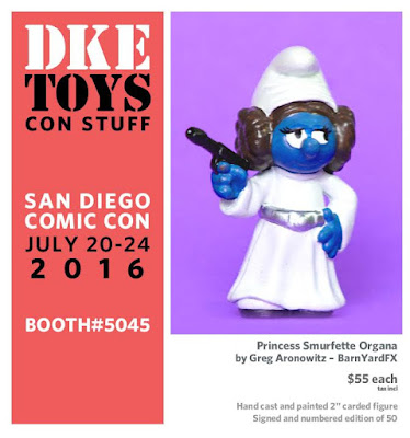 "San Diego Comic-Con 2016 Exclusive Star Wars x The Smurfs ""Princess Smurfette Organa"" Resin Figure by Greg Aronowitz of BarnYardFX x DKE Toys"