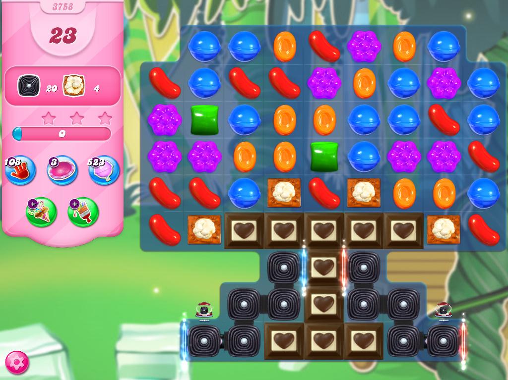 Candy Crush Saga level 3758