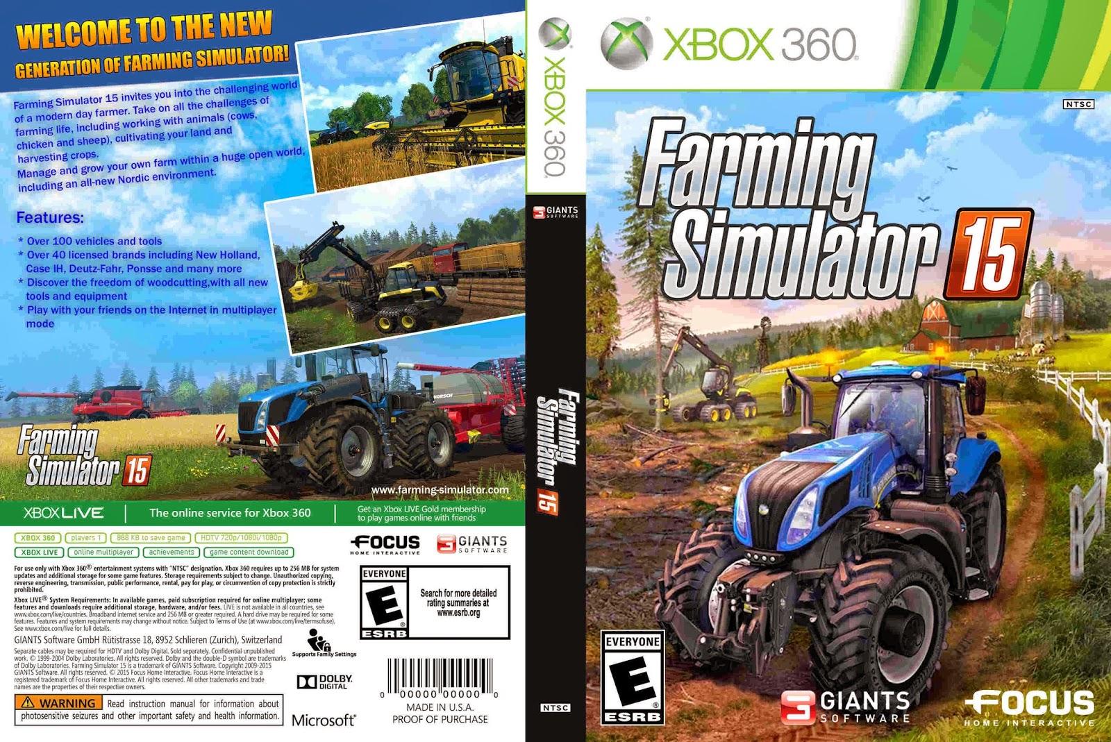 Farming simulator 15 xbox 360 game