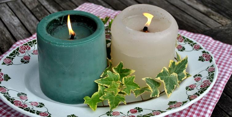 Wachsreste verwenden zum Kerzenmachen