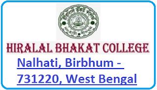 Hiralal Bhakat College, Nalhati, Birbhum - 731220, West Bengal
