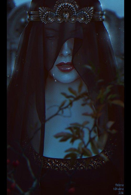 Helena Nikulina deviantart arte ilustrações photoshop fantasia ficção sombria terror mulheres