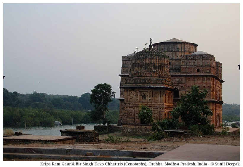 Cenotaph of Birsingh Deo & Kriparam Gaur, Orchha, Madhya Pradesh, India - Images by Sunil Deepak