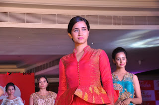 South Indian Celebrities Pos at Love For Handloom Collection Fashion Show  0153.jpg