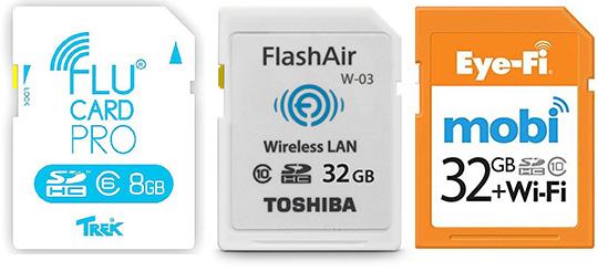 Карты памяти стандарта SD с Wi-Fi
