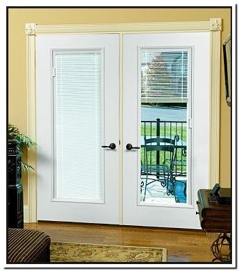Single Patio Door With Blinds